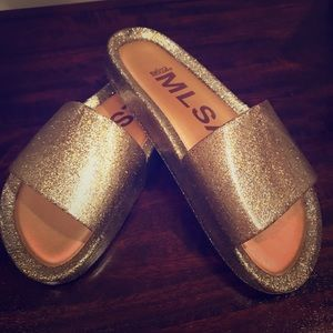 Gold Glitter Pool Slides